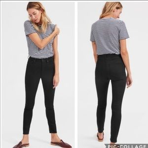 Everlane Midrise Skinny Black Ankle Jean Size 29